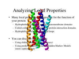 Analyzing Local Properties
