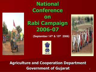 National Conference  on Rabi Campaign 2006-07