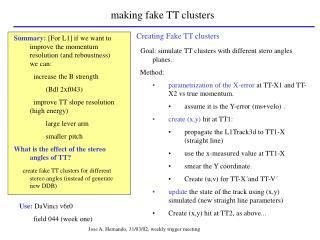 making fake TT clusters