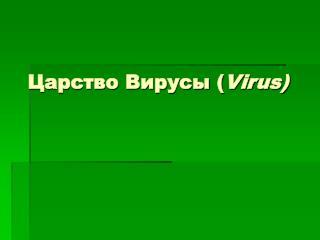 Царство Вирусы ( Virus)