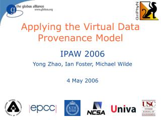 Applying the Virtual Data Provenance Model