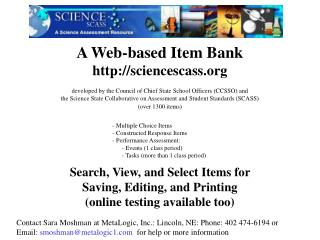 A Web-based Item Bank sciencescass