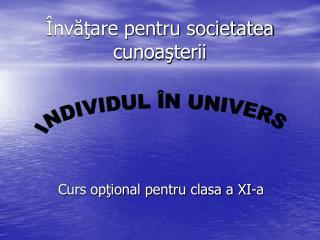 Învăţare pentru societatea cunoaşterii