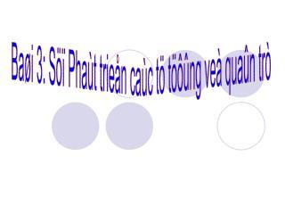 Baøi 3: Söï Phaùt trieån caùc tö töôûng veà quaûn trò