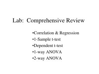 Lab:  Comprehensive Review