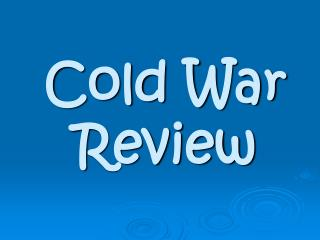 Cold War Review