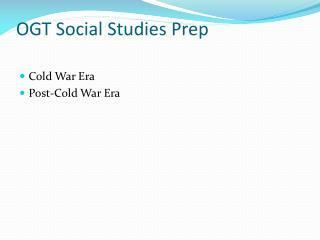 OGT Social Studies Prep