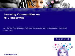 Learning Communities en NT2 onderwijs