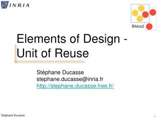 Elements of Design - Unit of Reuse