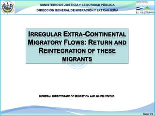 Irregular Extra-Continental Migratory Flows: Return and Reintegration of these migrants