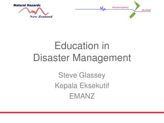 Education in  Disaster Management