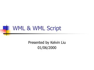 WML & WML Script