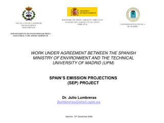 SPAIN'S EMISSION PROJECTIONS (SEP) PROJECT