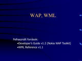 WAP, WML