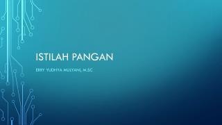 Istilah Pangan