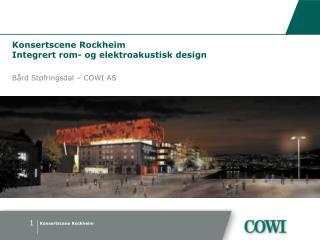 Konsertscene Rockheim Integrert rom- og elektroakustisk design