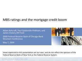 MBS ratings and the mortgage credit boom