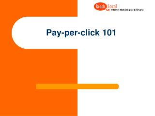 Pay-per-click 101
