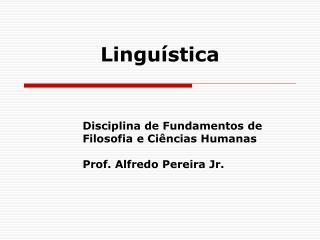Lingu�stica