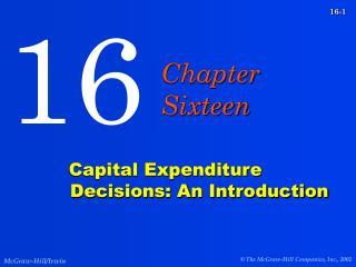Capital Expenditure Decisions: An Introduction