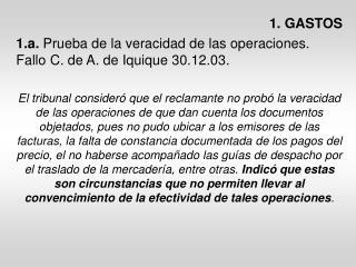 1. GASTOS