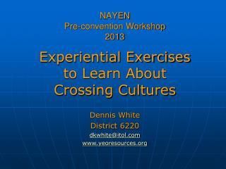 NAYEN  Pre-convention Workshop  2013