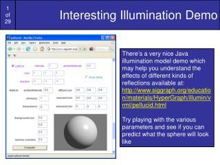 Interesting Illumination Demo
