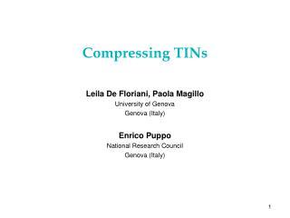 Compressing TINs