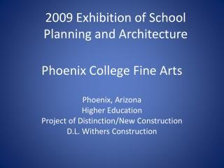 Phoenix College Fine Arts