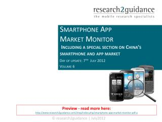 Smartphone App Market Monitor Vol. 6 (Q1 2012)