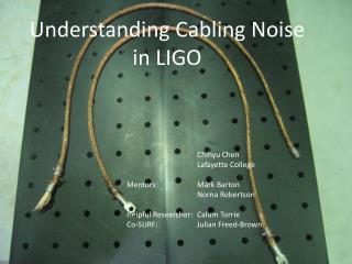 Understanding Cabling Noise in LIGO