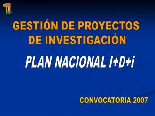 GESTIÓN DE PROYECTOS  DE INVESTIGACIÓN