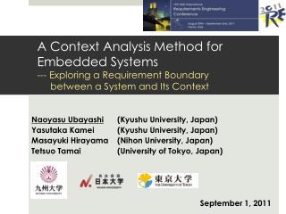 Naoyasu Ubayashi (Kyushu University, Japan) Yasutaka Kamei(Kyushu University, Japan)