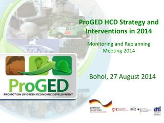 ProGED  HCD Strategy and Interventions in 2014 Monitoring and  Replanning  Meeting 2014