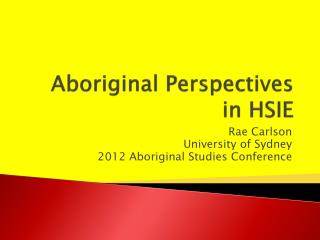 Aboriginal Perspectives  in HSIE