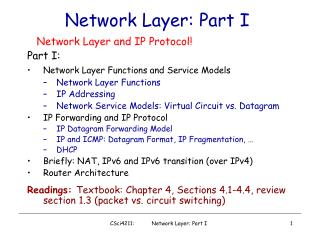 Network Layer: Part I