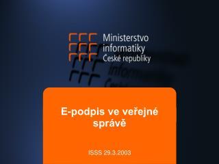 E-podpis ve veřejné správě