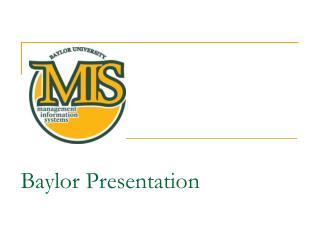 Baylor Presentation