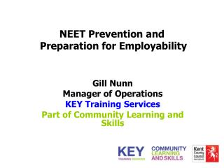 NEET Prevention and   Preparation for Employability