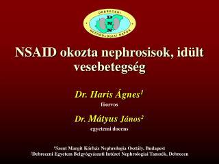 NSAID okozta  nephrosisok , idült vesebetegség