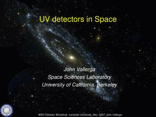 UV detectors  in Space