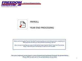 PAYROLL YEAR END PROCESSING