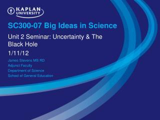 SC300-07 Big Ideas in Science