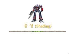 음 영  (Shading)