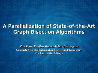 A Parallelization of State-of-the-Art Graph Bisection Algorithms