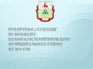 Публичные слушания по бюджету  Дальнеконстантиновского  муниципального района  на 2014 год