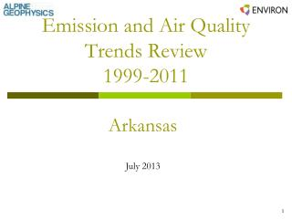 Emission and Air Quality Trends Review 1999-2011