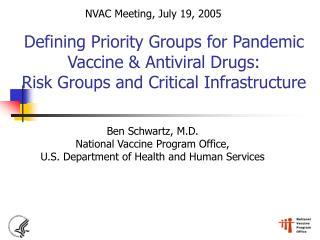 Ben Schwartz, M.D. National Vaccine Program Office, U.S. Department of Health and Human Services