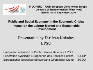 Public and Social Economy in the Economic Crisis: