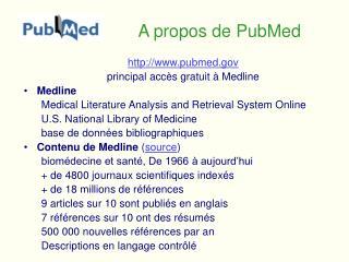 A propos de PubMed